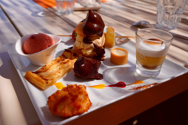 Ein perfekter Strandtag - Plage de Pampelonne, L'Orangerie assiette gourmande