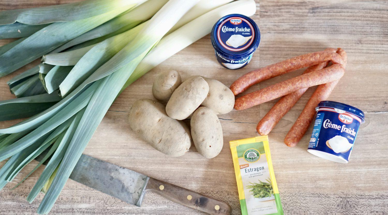 susamamma's signature dish - Kartoffel-Lauch-Erbsen-Durcheinander, Zutaten... ja, die Erbsen fehlen