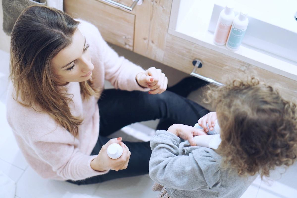 Hautpflege im Winter Mama und Minnie das boep