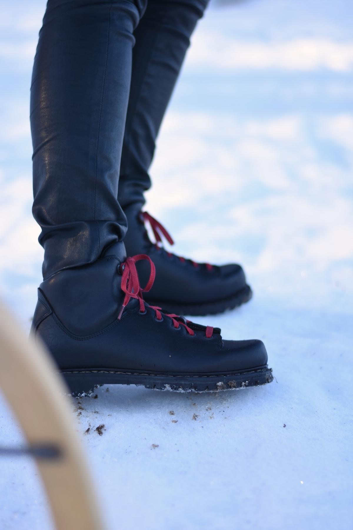 Chic & Schlittentauglich - Ein Winterschuh für alle Fälle + Outfit, Schuhe im Schnee Haferl Original