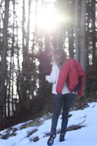 Chic & Schlittentauglich - Ein Wanderschuh für alle Fälle + Outfit, in the woods