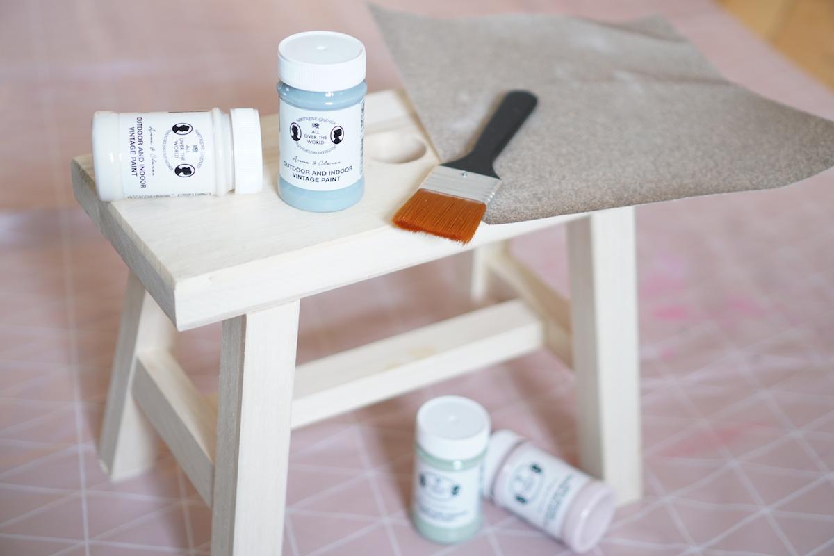 DIY Hocker pimpen & wie der Schemel zum Einsatz kommt Das brauchst du