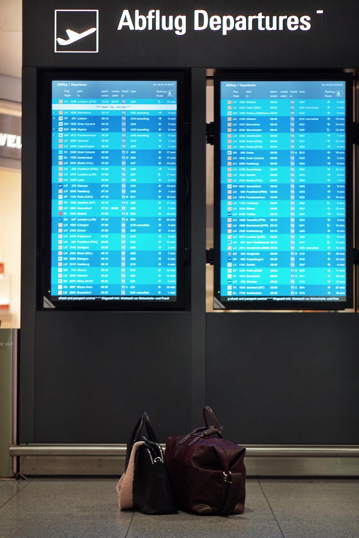 Flugreise ohne Kind - 5 Dinge die anders sind Abflug München Airport