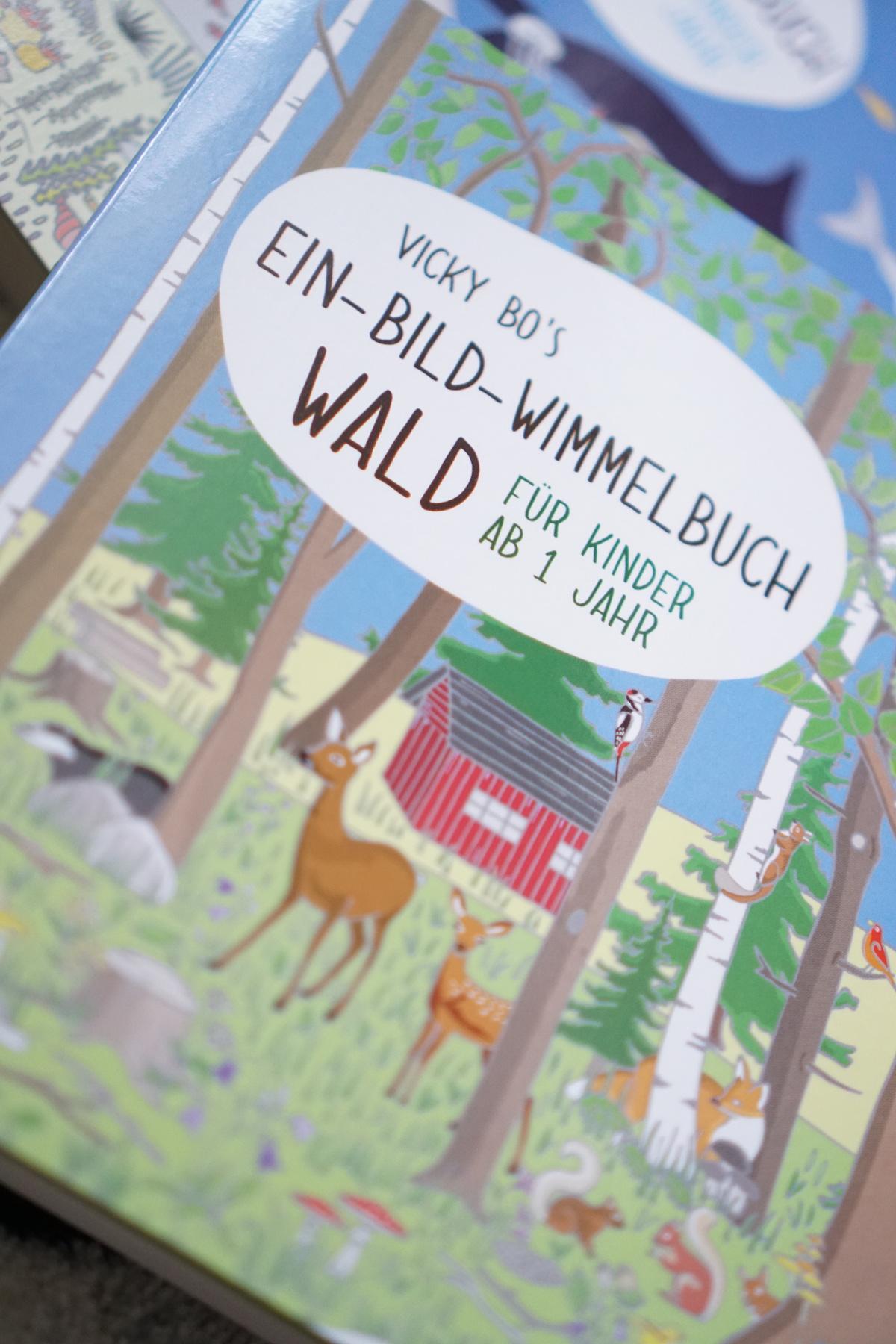Malen und Lesen mit Vicky Bo, Ein-Bild-Wimmelbuch Wald