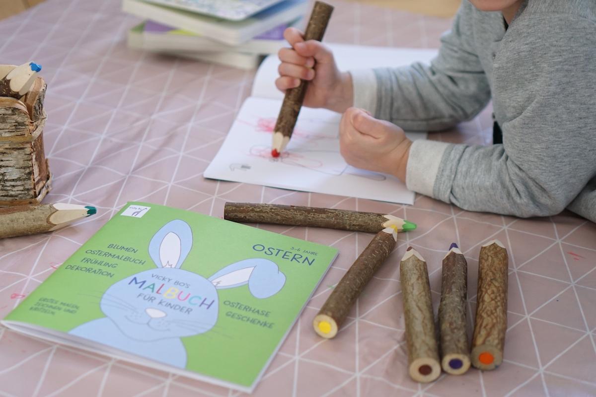 Malen und Lesen mit Vicky Bo meine Tochter malt