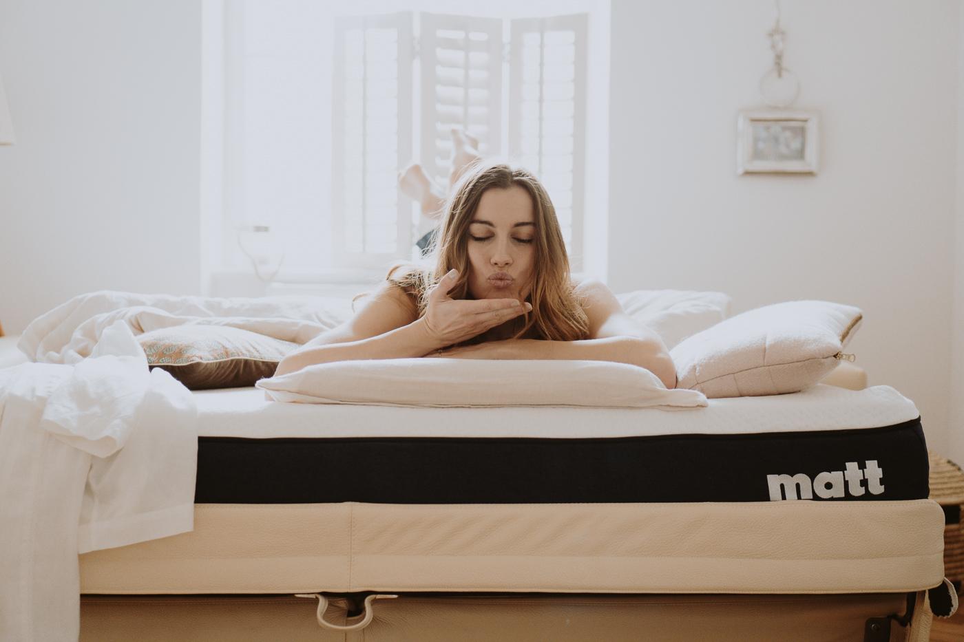 Schlafen ist schön. Matt Sleeps - Eine Matratze für jeden Schlaftyp, Kiss Good Night