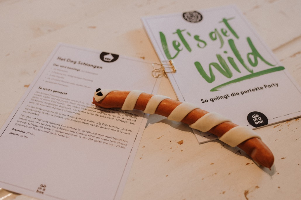 Mottogeburtstag: LET'S GET WILD - Minnies 4. Geburtstag in a box Rezept Schlangen