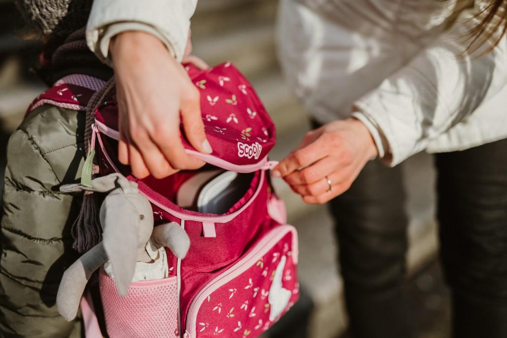 Kindergartenrucksack - Was ist wichtig? Was muss hinein?Detail