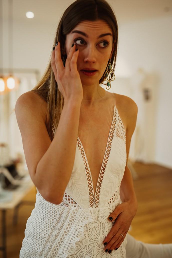 Brautkleid und Tränen